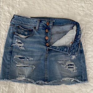 American Eagle High Rise Denim Mini Skirt